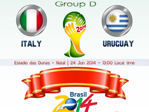 World Cup 2014: Italia vs Uruguay | Thao Marky's Productions