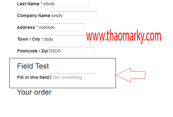 Insert New Customs Fields in Checkout Woocommerce | Thao Marky's Productions