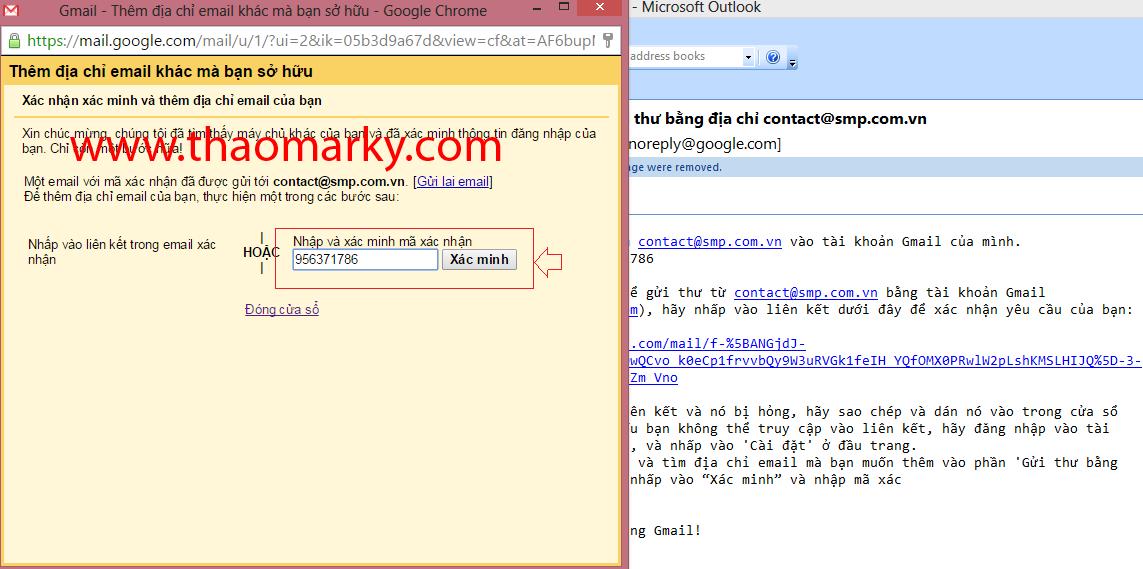 Hướng dẫn Gửi/nhận mail domain thông qua tài khoản Gmail 5