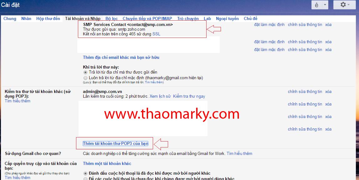Hướng dẫn Gửi/nhận mail domain thông qua tài khoản Gmail 6