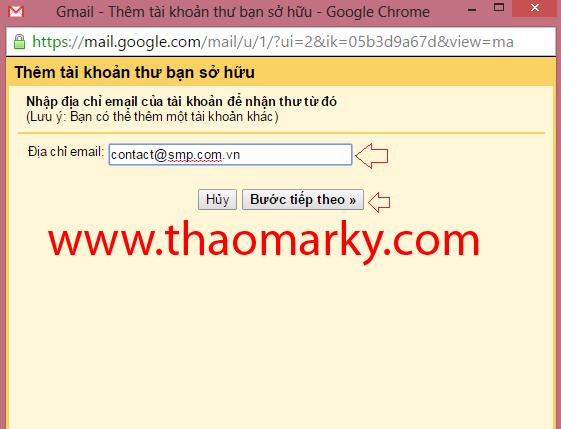 Hướng dẫn Gửi/nhận mail domain thông qua tài khoản Gmail 7