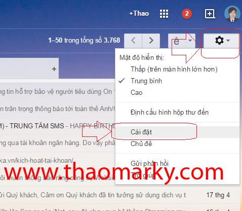 Hướng dẫn Gửi/nhận mail domain thông qua tài khoản Gmail 1