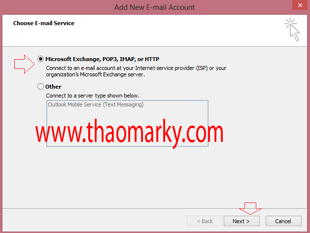 Cấu hình gửi/nhận Mail domain bằng Outlook 1