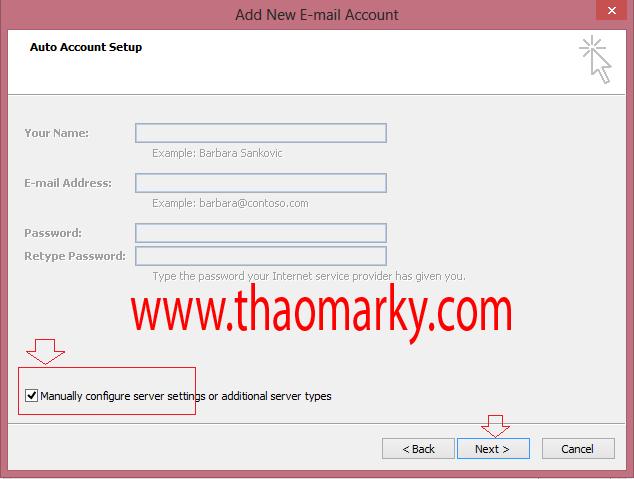 Cấu hình gửi/nhận Mail domain bằng Outlook 2