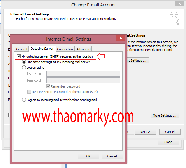 Cấu hình gửi/nhận Mail domain bằng Outlook 5