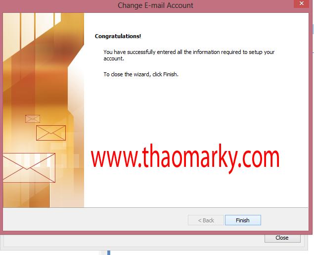 Cấu hình gửi/nhận Mail domain bằng Outlook 8